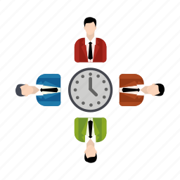 discussion, group, growth, teamwork icon