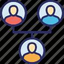 company team, hierarchy, hierarchy of team, team, team structure icon