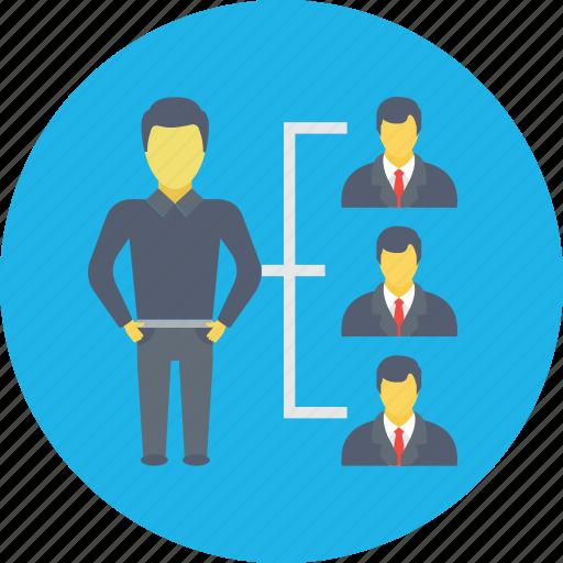 leader, management, manager, organization, teamwork icon