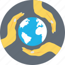 earth hand, global protection, global safety, glowing globe, protection icon
