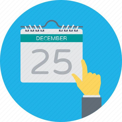 25 december, 25 december calendar, calendar, christmas calendar, event icon