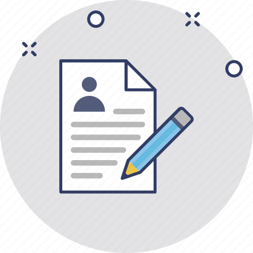 composing, cv editing, cv writing, profile editing, resume writing icon