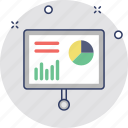 bar chart, diagram board, graph board, graph presentation, statistics icon
