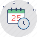 25 december, 25 december calendar, calendar, christmas date, event icon