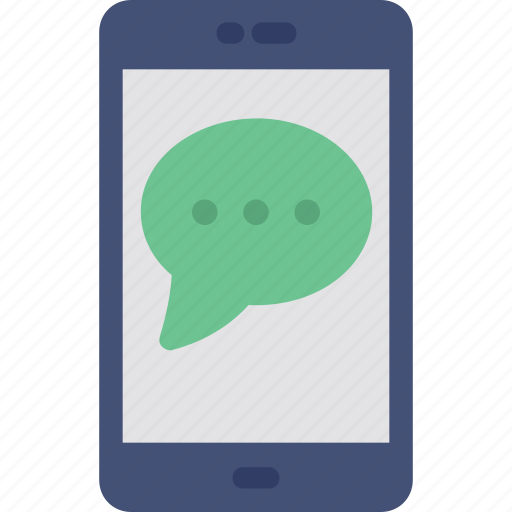 mobile chat, mobile conversation, mobile message, sms, sms service icon