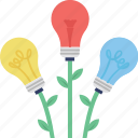 creative plant, growth concept, growth creativity, idea growth, strategy growth icon