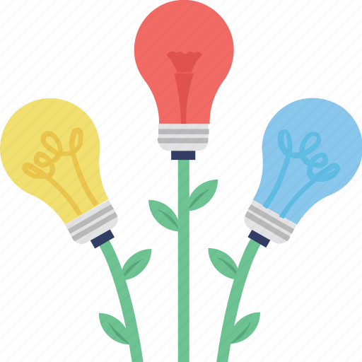 creative plant, growth concept, growth creativity, idea growth, strategy growth icon