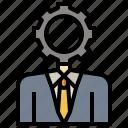 administrator, avatar, boss, employee, man, worker