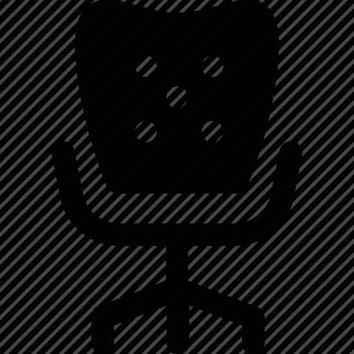 armchair, moving chair, office chair, revolving chair, swivel chair icon