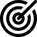 aim, bullseye, crosshair, focus, target icon