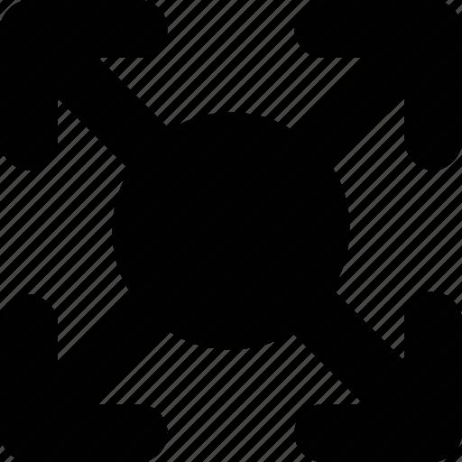 arrow, enlarge, full screen, maximize, screen size icon