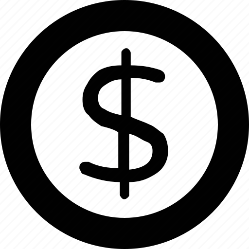 coin, currency, dollar coin, money, saving icon