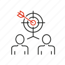 competition, cooperation, goal, human, interaction, resource, task icon