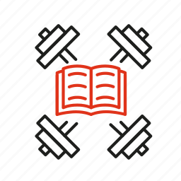 book, cognition, experince, knowledge, training, tutorial icon