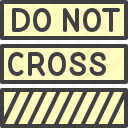 police tape, crime, cop, do not cross icon