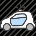 car, emergensy, police, police car, security, siren icon