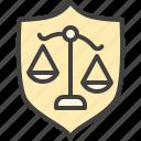 civil, justice, law, tribunal icon