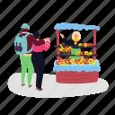 bakery, street, shop, pretzel, seller
