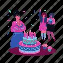 birthday, cake, party, gifts, make a wish, decoration, celebration