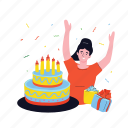 party, birthday, cake, fun, gifts