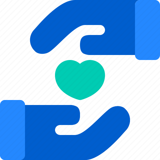 Charity, hand, heart, help, love icon - Download on Iconfinder