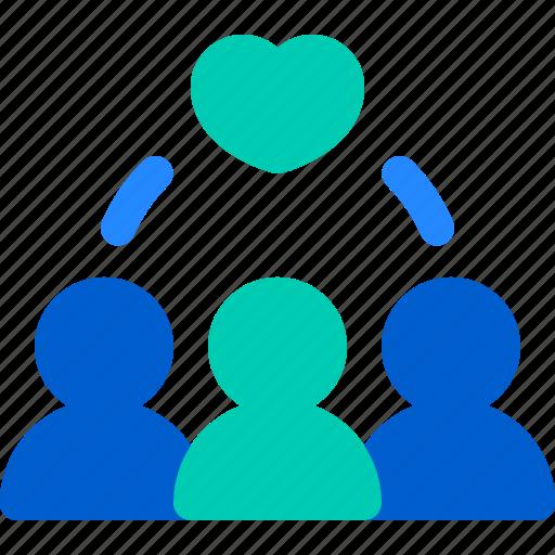 Heart, love, team, together, work icon - Download on Iconfinder
