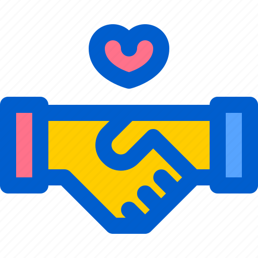 business, deals, handshake, love, together icon