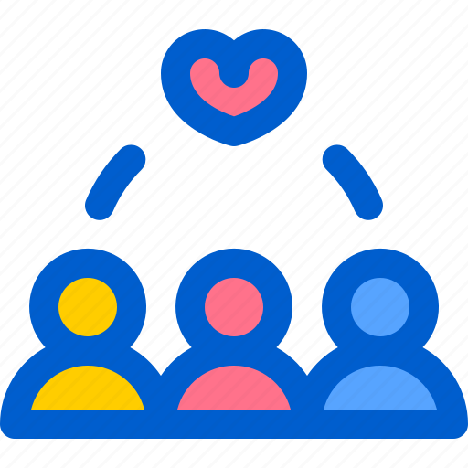 heart, love, team, together, work icon