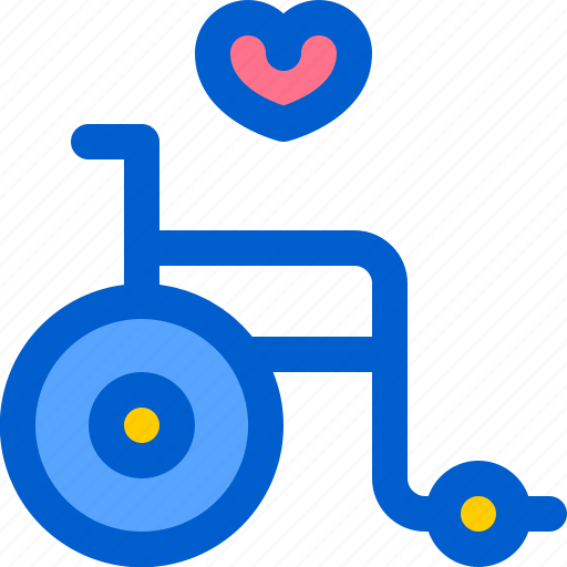 chair, hospital, medical, old, wheel icon