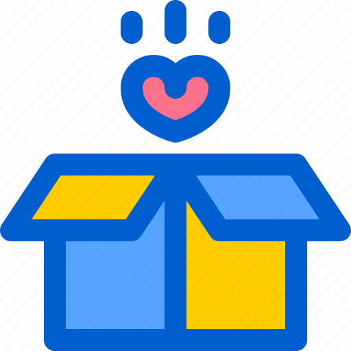 Box, delivery, gift, heart, love icon - Download on Iconfinder