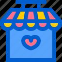 donation, front, open, shop, store