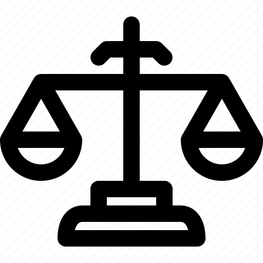 crime, equality, judge, law, scale icon