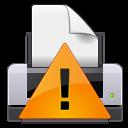 gtk, print, warning icon