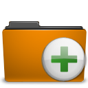 add, archive, folder, orange, to icon