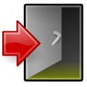 exit, system, xfce icon