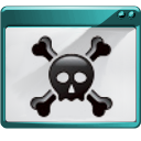 amcä±k, force, hacker, kill, panel, quit, skull icon