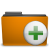 add, archive, folder, orange, to icon