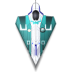 blaster, fighter, rocket, space, spaceship icon
