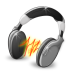 audacity, audio, headphones, music, sound icon