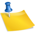 note, notes, post it, postit, sticky icon