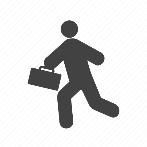 businessman, clock, late, meeting, running, time, wristwatch icon