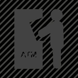 atm, card, cash, money, receipt, transaction, withdraw icon
