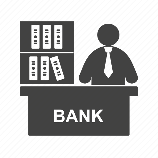 banker, business, businessman, legal, loan, mortgage, people icon