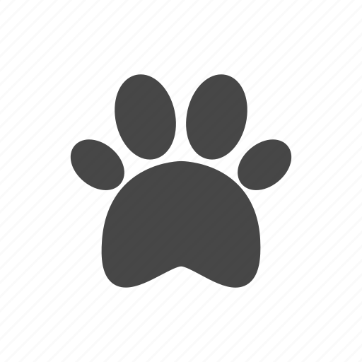 creative, grid, objects, paw, pet, shape, sign, trace, track icon