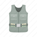 clothing, equipment, hunting, pocket, uniform, vest icon