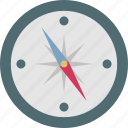 compass, navigation, geolocation, compass rose, directional tool icon