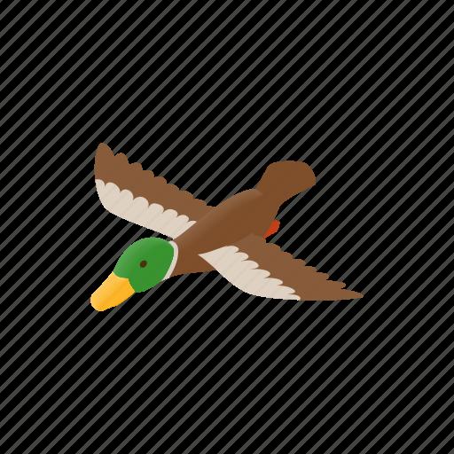 bill, bird, decoy, duck, isometric, wood, wooden icon