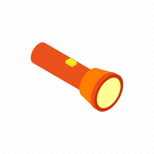 bulb, energy, flashlight, isometric, lamp, lite, tool icon