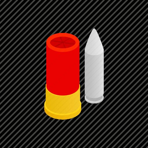ammo, ammunition, bullet, gun, isometric, shot, weapon icon