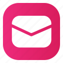 gradient, icons, message, pink icon